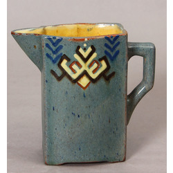 A faience pitcher