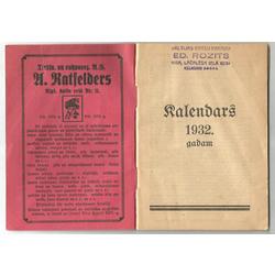 Latvju kalendārs 1932. gadam