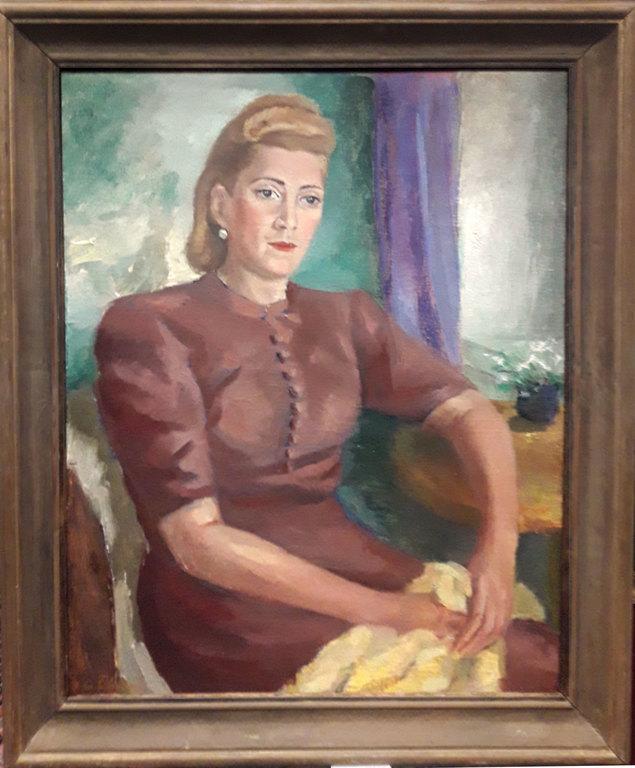 Sievietes portrets (Vokālā pedagoģe un operdziedātāja Dora Brutāne)