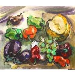 Klusā daba ar dārzeņiem