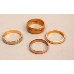Zelta laulību gredzeni (4 gab.)
