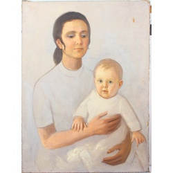 Mother with child (unsigned)