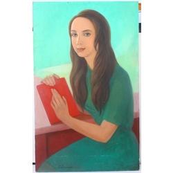 Meitene ar sarkano grāmatu