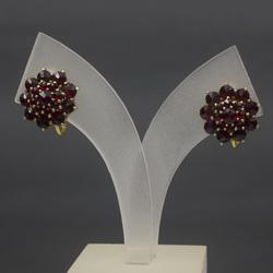 Zelta auskari ar granātiem (kastītē)