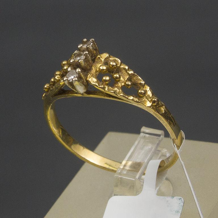 Zelta gredzens ar brilajntiem