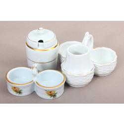 Porcelāna garšvielu trauku komplekts (3 gab.)