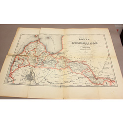 Kurzemes guberņas karte