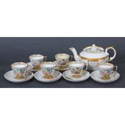 Porcelain set for six persons