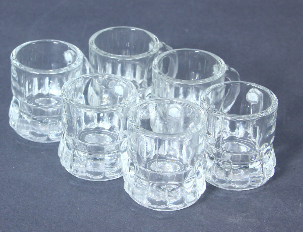 Stikla glāzītes 6 gab.