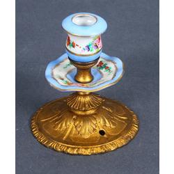 Porcelāna  svečturis ar metāla apdari