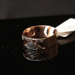 Zelta gredzens ar 2 briljantiem