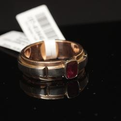 Zelta gredzens ar rubīnu