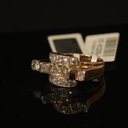 Zelta gredzens ar brilajantiem