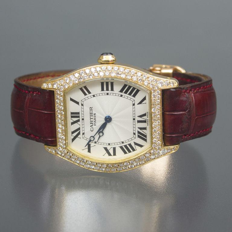 Cartier zelta rokas pulkstenis