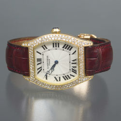 Cartier gold wrist watch