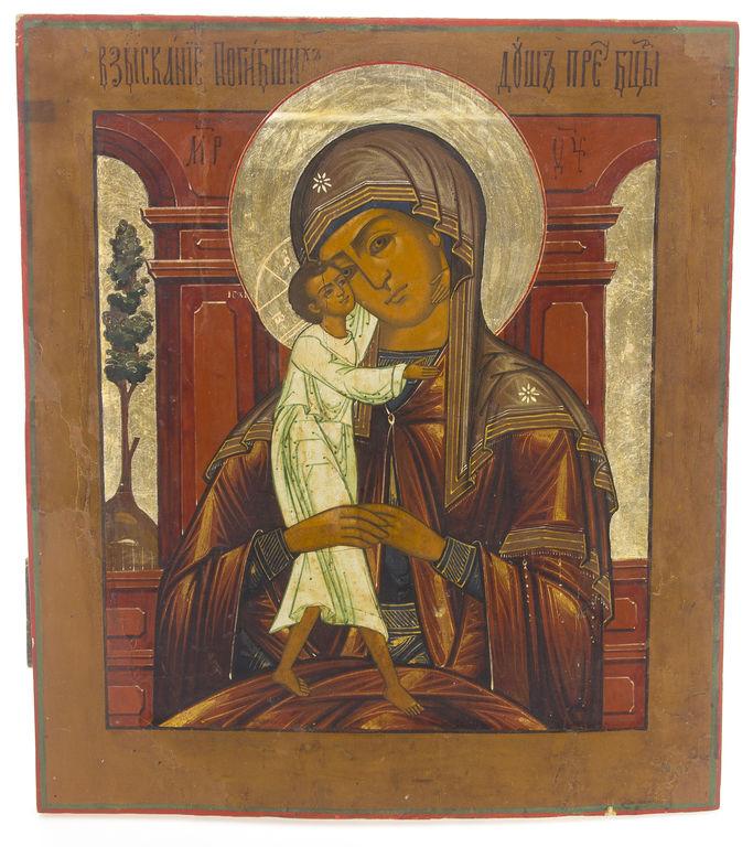 Koka ikona ar gleznojumu