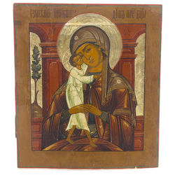 Wooden icon with a painting