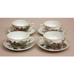 Porcelain cup with saucer 4 pcs.