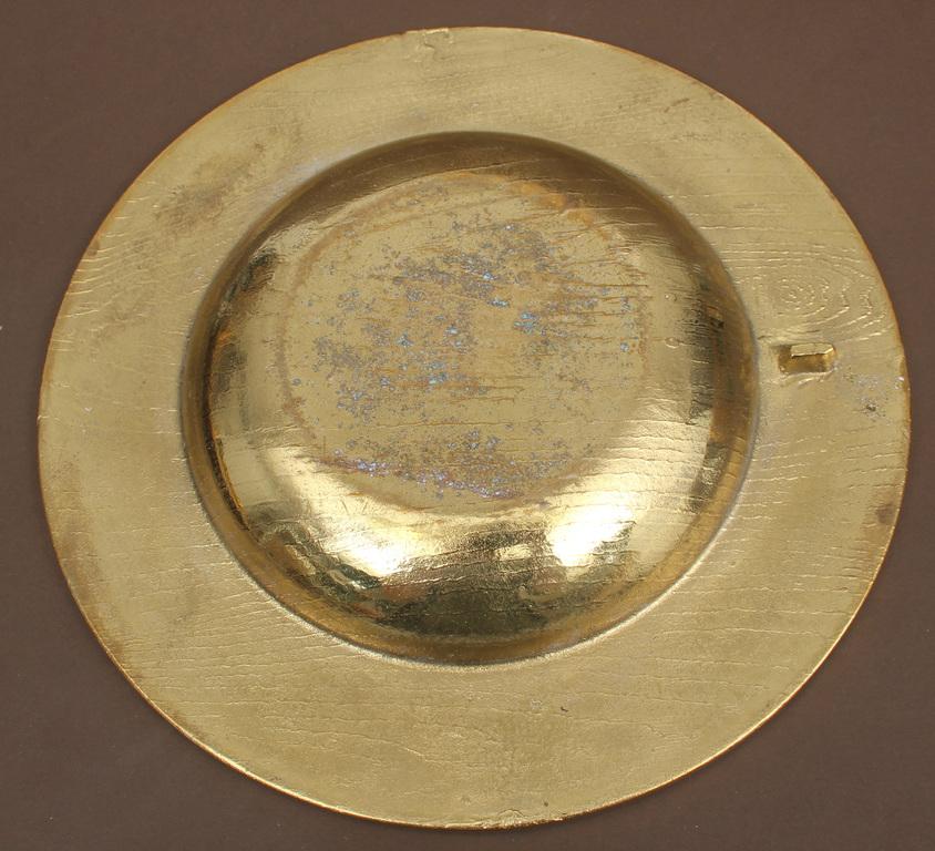 Apzeltītas bronzas, dekoratīvais šķīvis