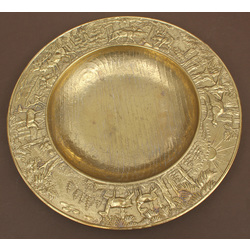 Gilded bronze decorative plate