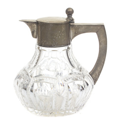 Crystal decanter with silver finish