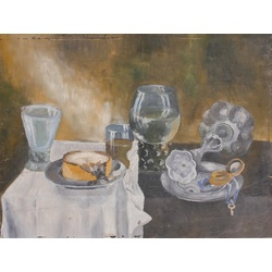 Still life with dishes