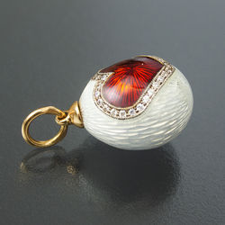 Faberge gold pendant