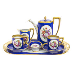 Rosental porcelain set for 2 persons with painting and gilding