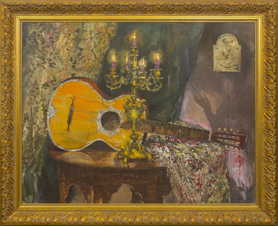 Klusā daba ar ģitāru