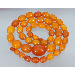 Natural Baltic amber beads necklace