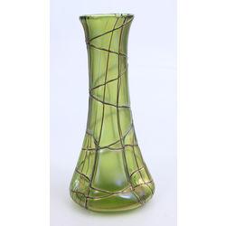 Jūgendstila stikla vāze