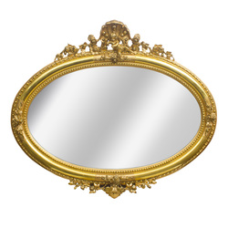 Gold-plated mirror