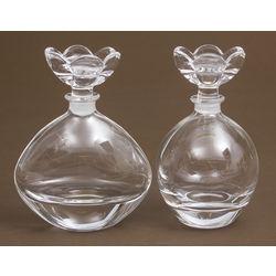 Stikla smaržu pudelītes 2 gab.