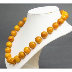 Pressed amber beads, 83 g