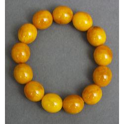 Pressed amber bracelet