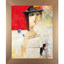 Sieviete cepurē