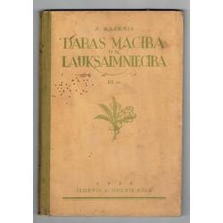 J.Rācenis,  Dabas mācība un lauksaimniecība