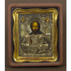 Silver icon in frame