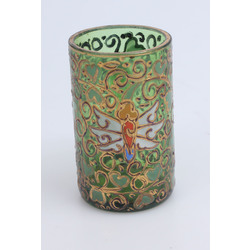 Coloerful glass cup with gilding