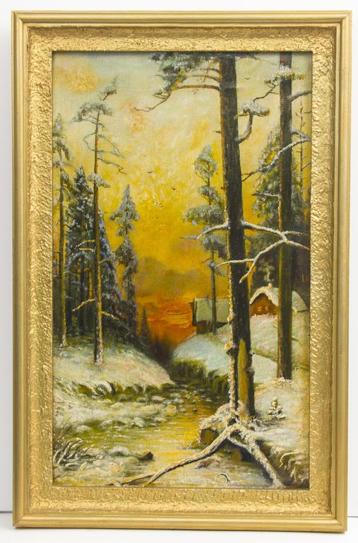 Kopija pēc Klēvera, Ziemas ainava