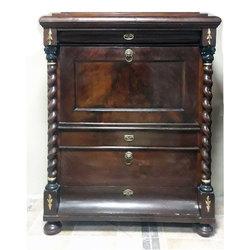 Biedermeier style mahogany secretary