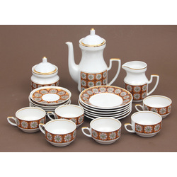 Porcelain tea set for 6 persons