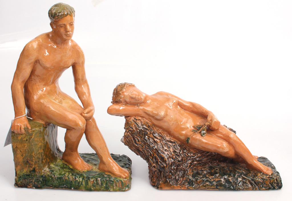 Keramikas figūru pāris