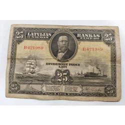 Divdesmit piecu latu naudas zīme, 1928