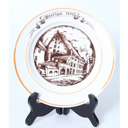 Porcelain plate 'Old town'