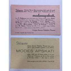 Divi ielūgumi uz modes apskati