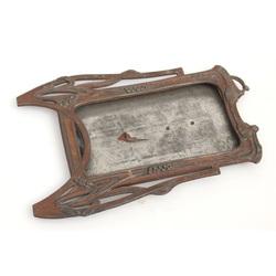 Jūgendstila špialtra metāla fotorāmītis