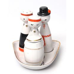 Porcelāna garšvielu trauku komplekts