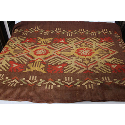 Wool blanket with Latvian-national ornaments