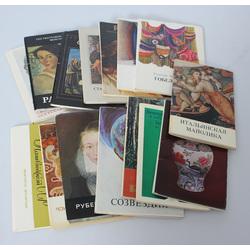 16 atklātņu albumi ar gleznu reprodukcijām